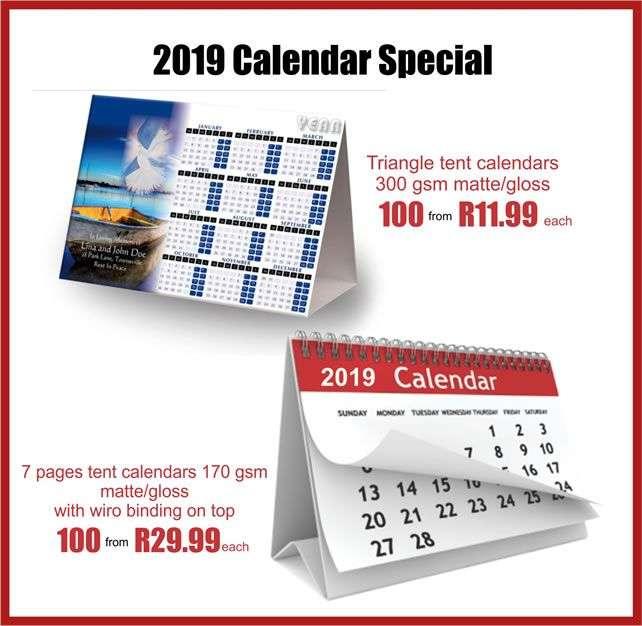 calendar-printing johannesburg