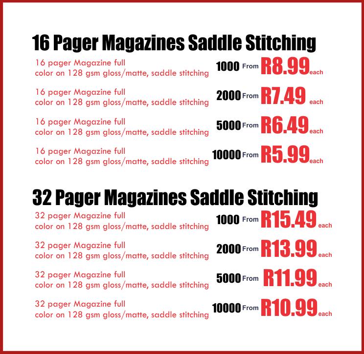 Magazine Printing Price List