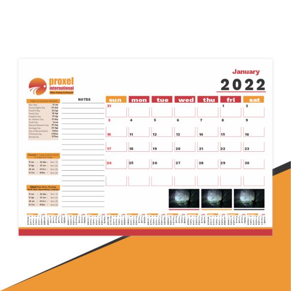 Desk pad Calendar Printing